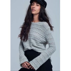 Woven gray sweater